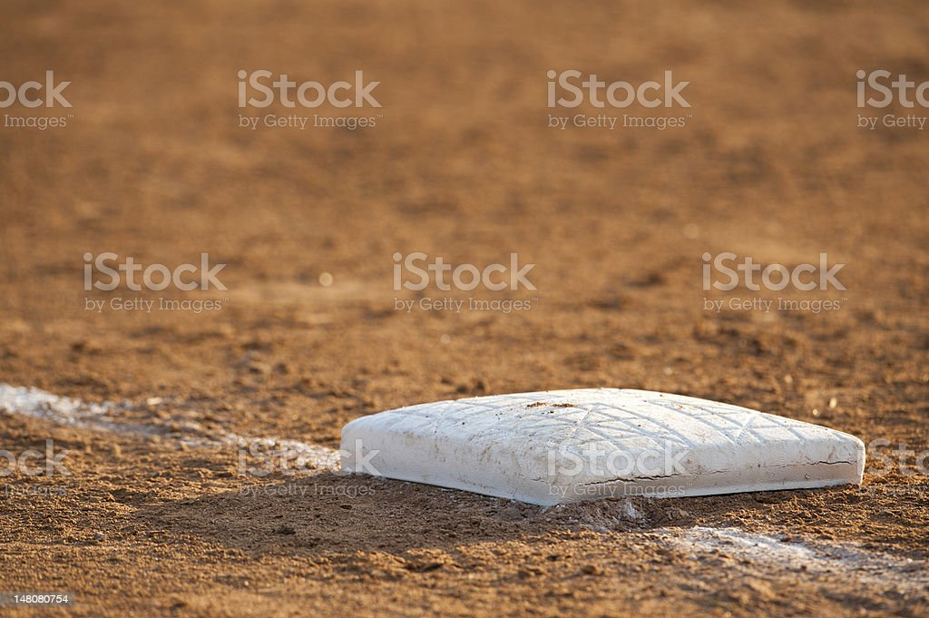 Base in the dirt stock photo