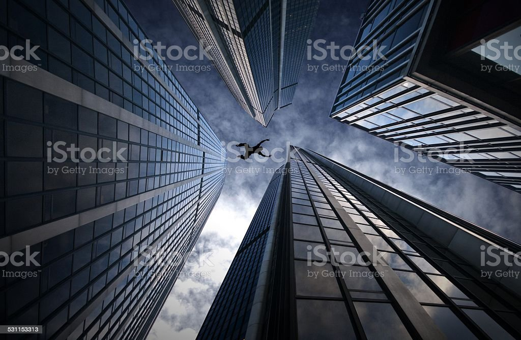 Base jump stock photo