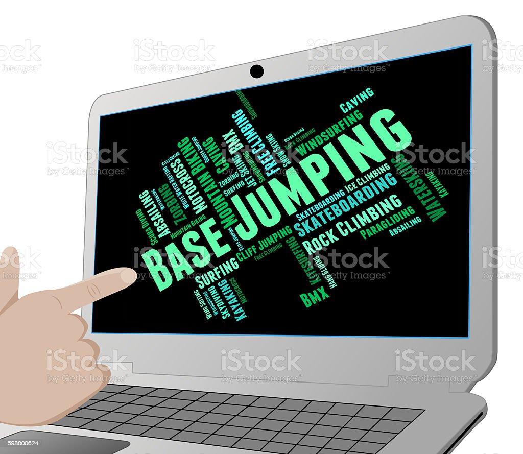 Base Jumping Indicates Basejump Basejumper And Basejumping stock photo