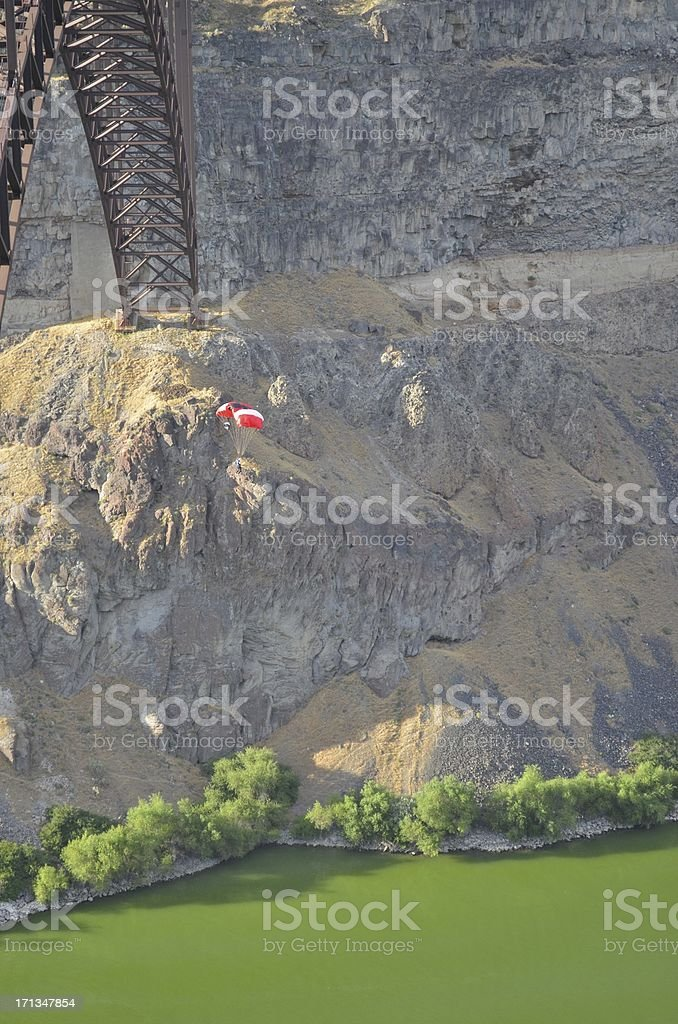 Base Jumping royalty-free stock photo