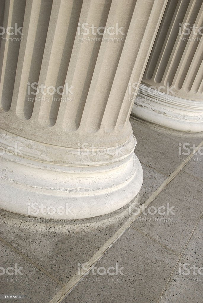 Base of Fluted Ionic Columns royalty-free stock photo
