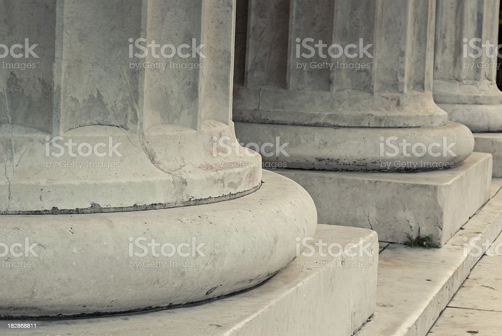 Base of marble columns royalty-free stock photo