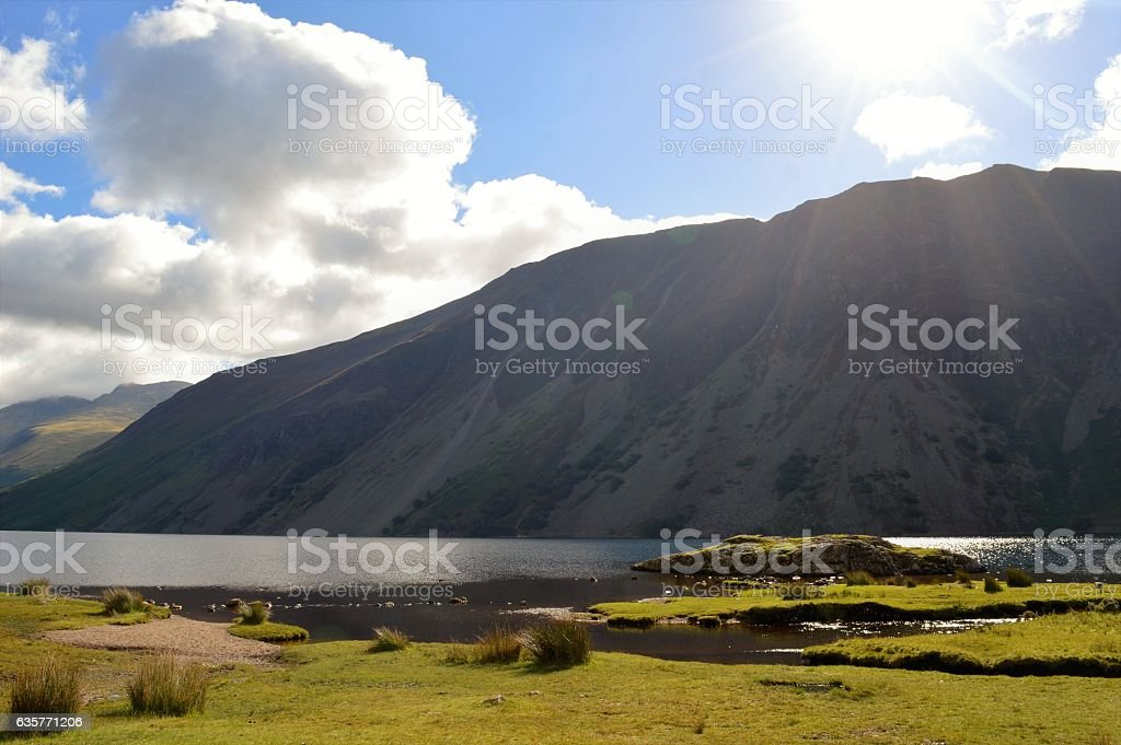 Base of Scafell Pike stock photo