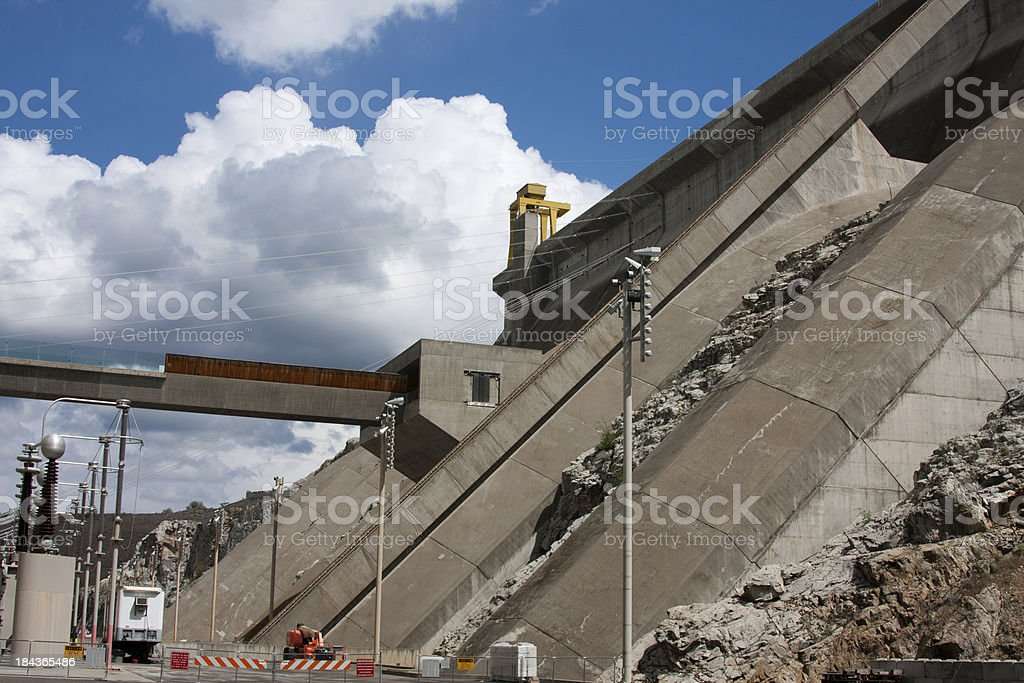 Base of the Dam stock photo