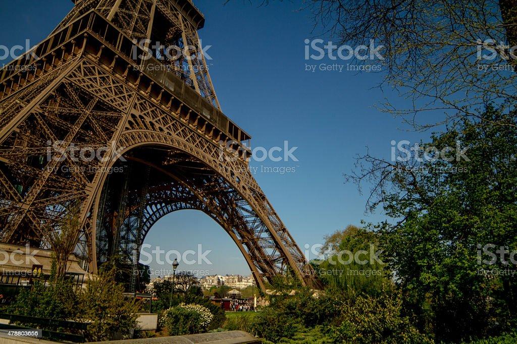 Podstawy wieży Eiffla zbiór zdjęć royalty-free