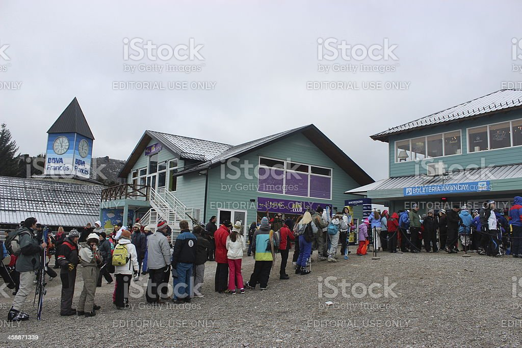 Base of the Ski Resort at CERRO CATEDRAL stock photo