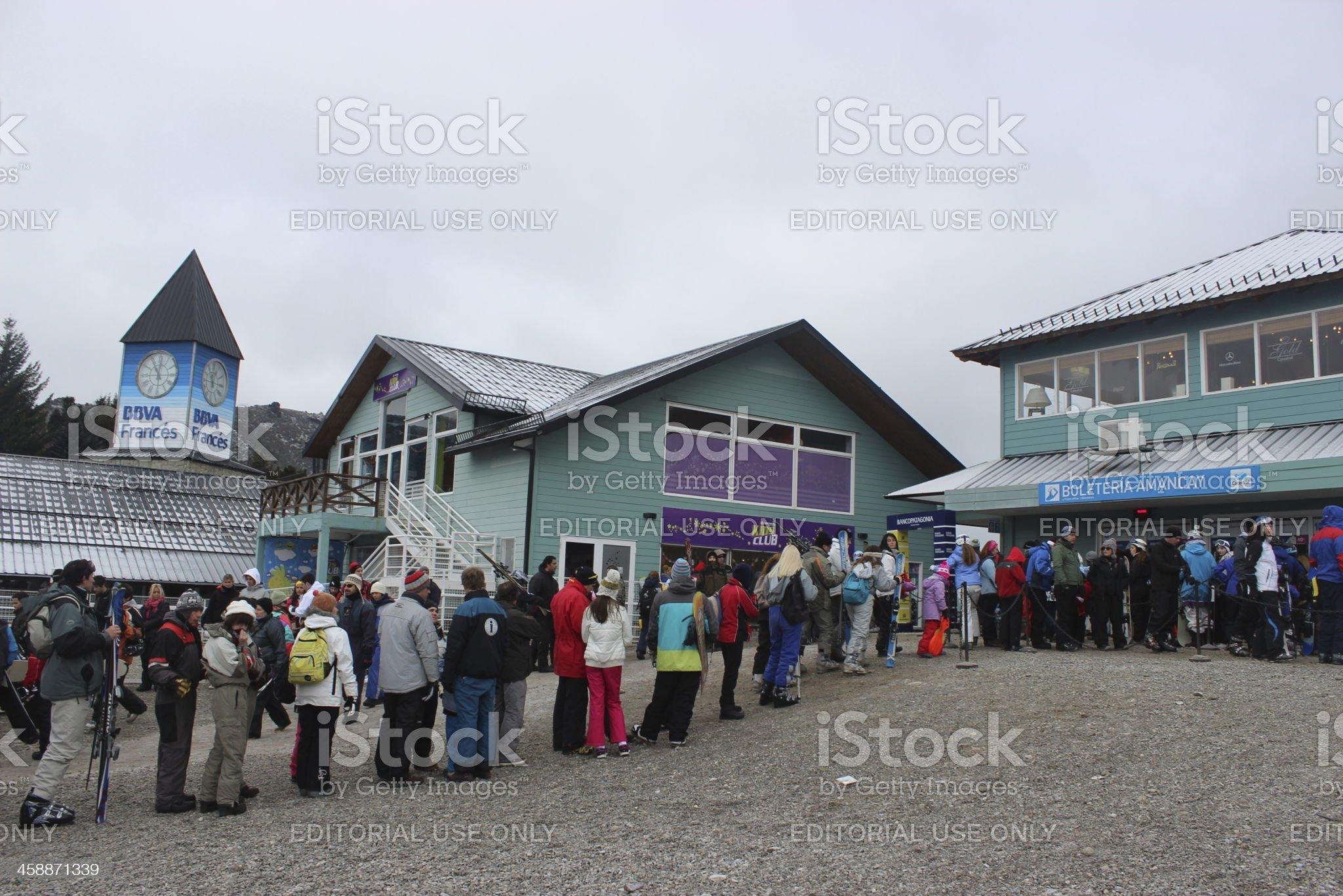 Base of the Ski Resort at CERRO CATEDRAL royalty-free stock photo