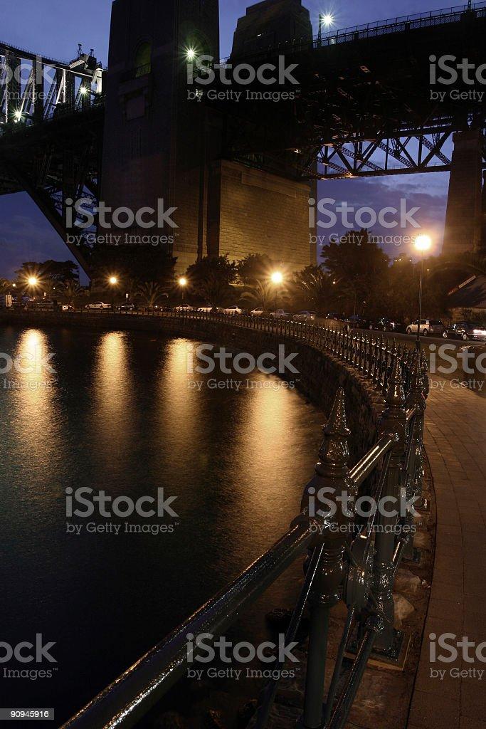 base of the sydney bridge royalty-free stock photo