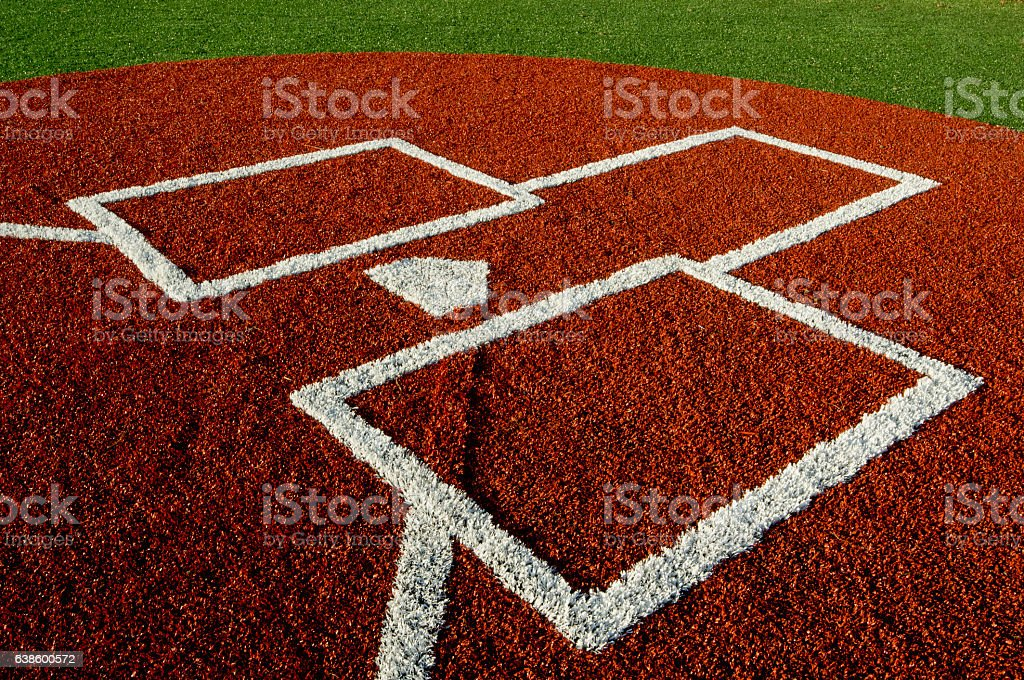 Base Paths and Home Plate stock photo