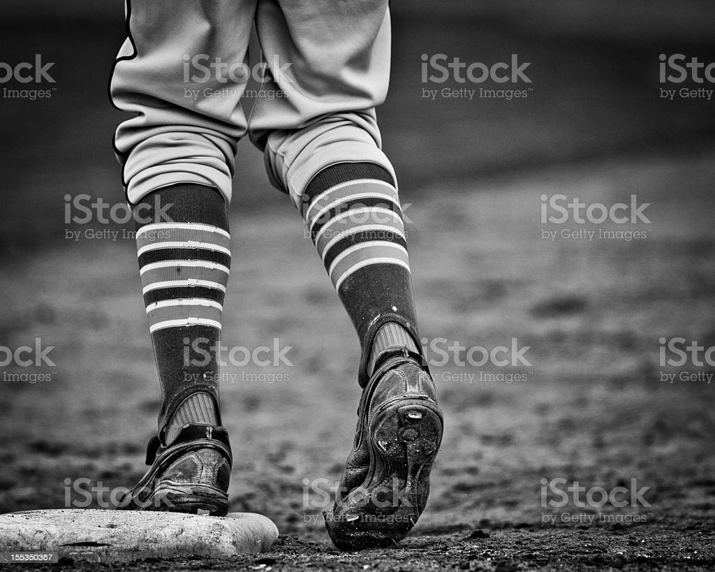 Base Runner on First stock photo