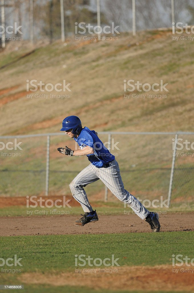 Base runner running royalty-free stock photo