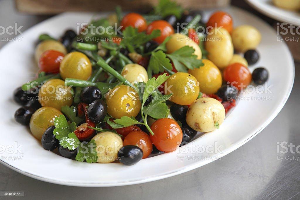 Base salad nicoise stock photo