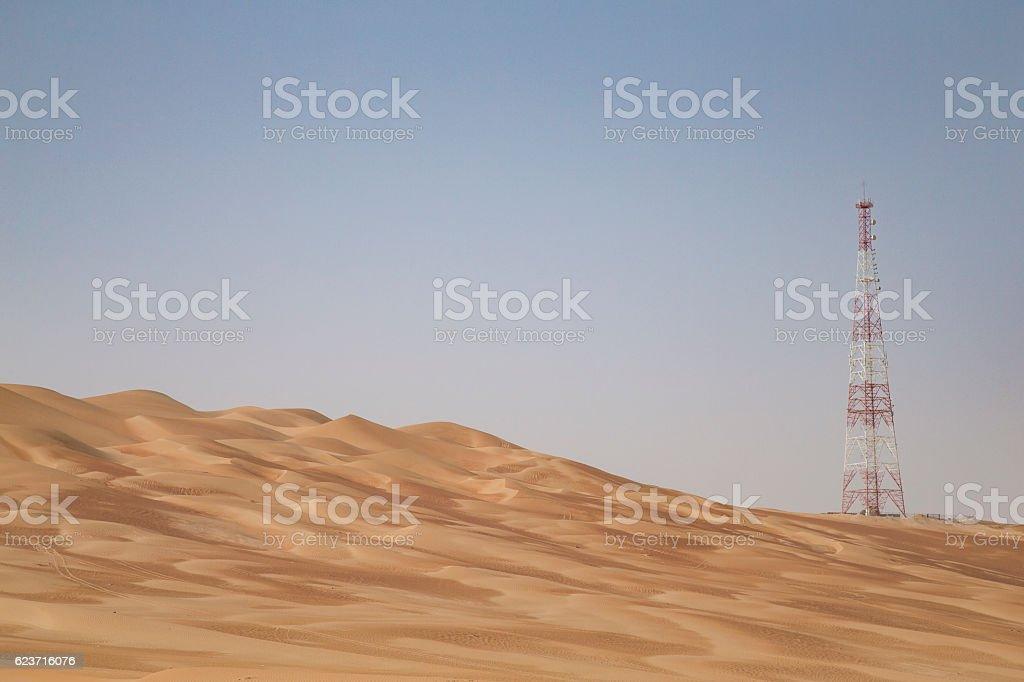 GPS base station in a desert stock photo