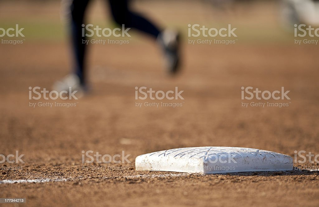 Base with player royalty-free stock photo