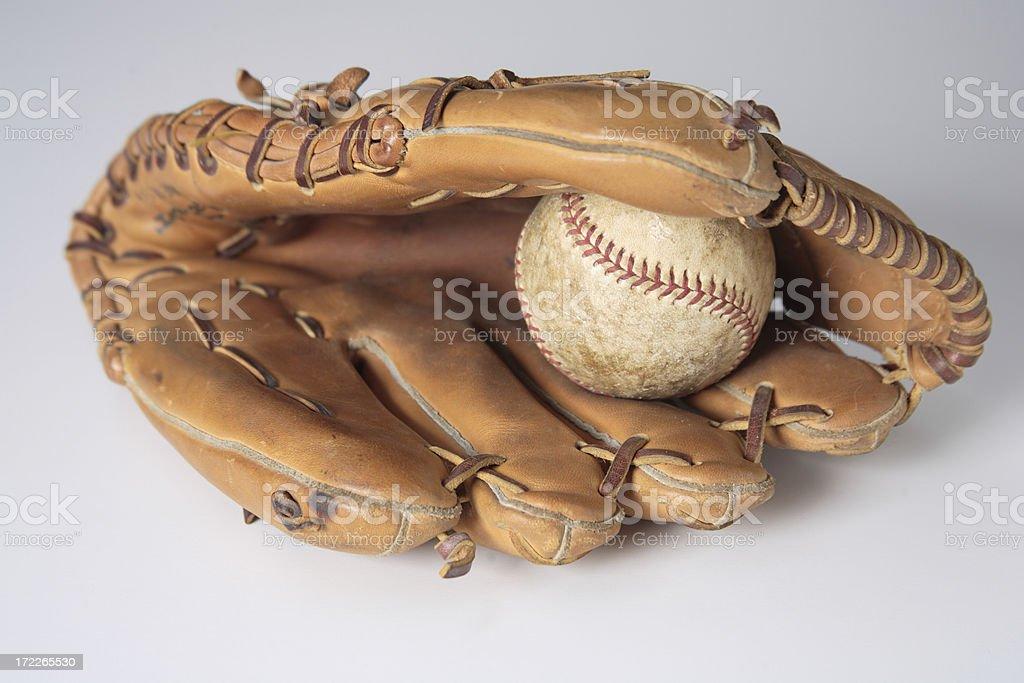Baseball and glove stock photo