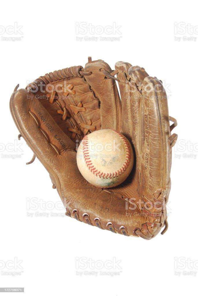 Baseball and glove royalty-free stock photo