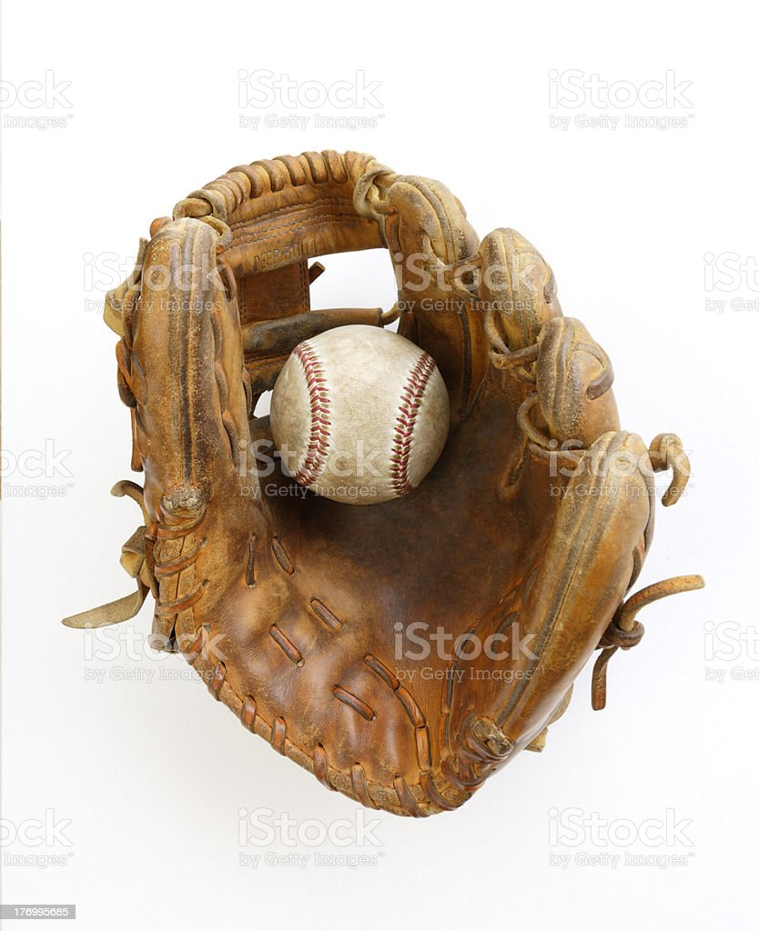 Baseball and Glove stock photo