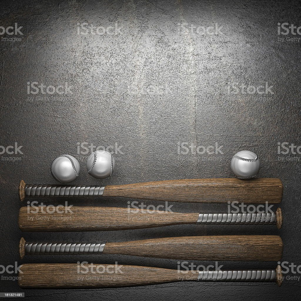 baseball and metal background royalty-free stock photo