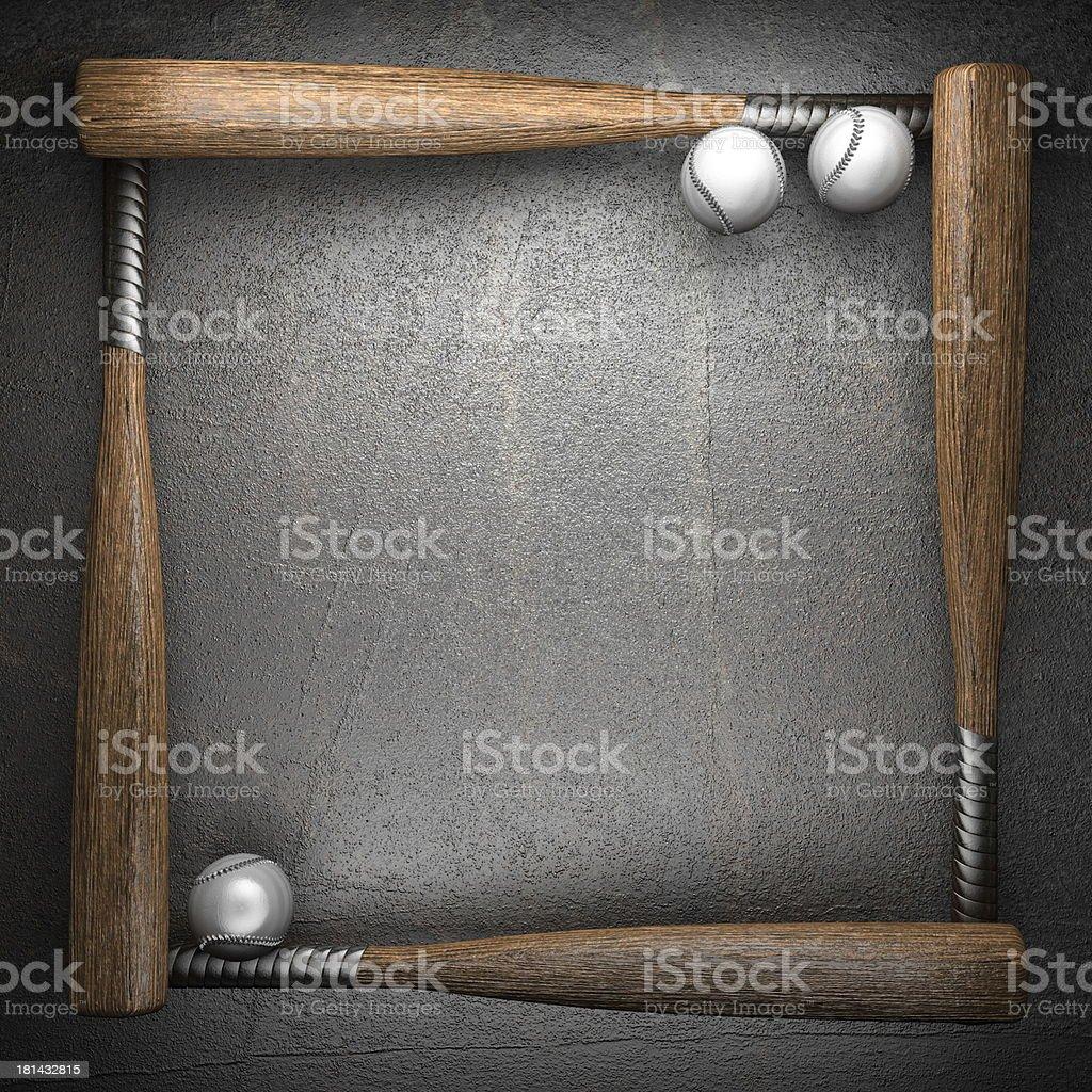 Baseball and metal wall background royalty-free stock photo