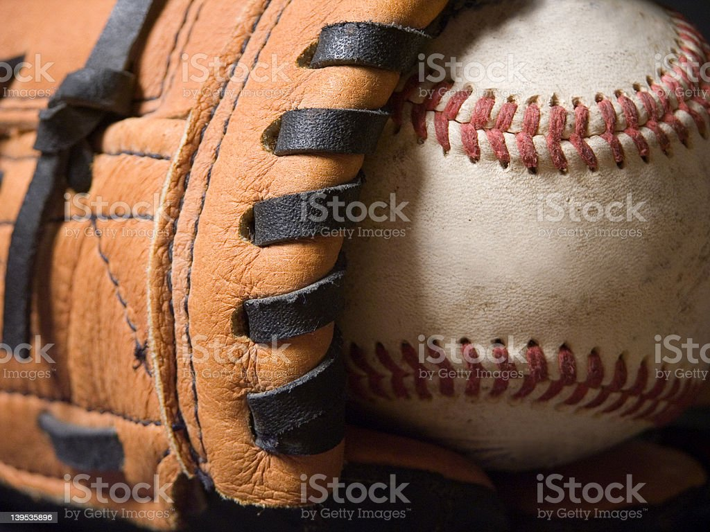 Baseball and Mitt stock photo