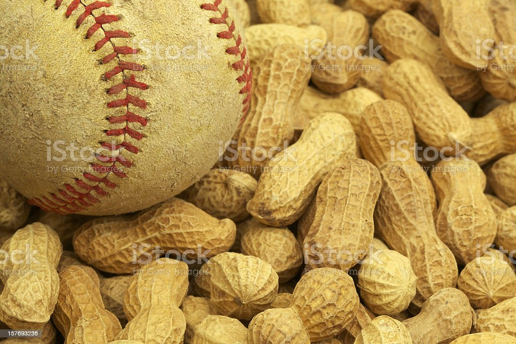 Baseball and Peanuts, All-American Combination, Season royalty-free stock photo