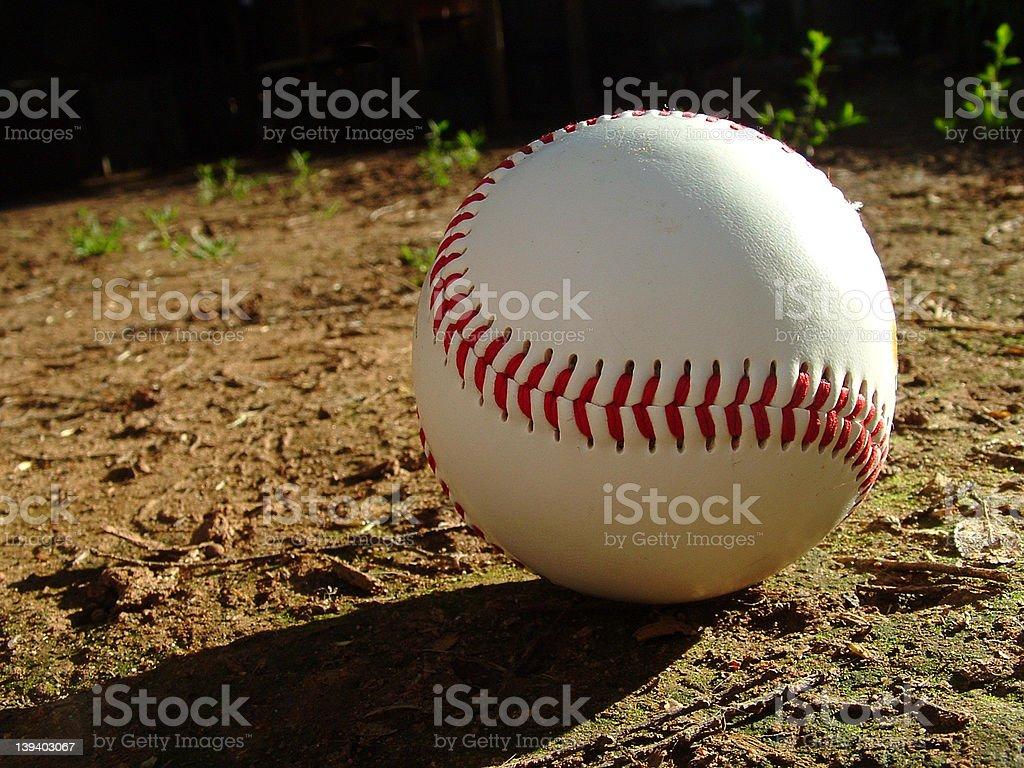 Baseball and Shadow royalty-free stock photo