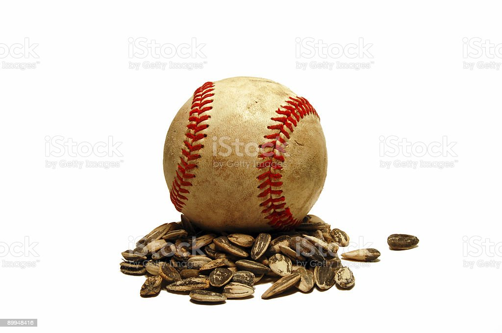 Baseball at Rest stock photo