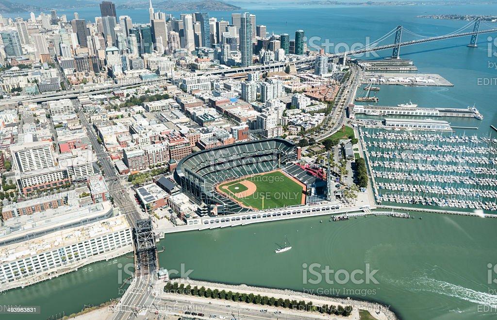 Baseball AT&T Park stadium of San Francisco stock photo
