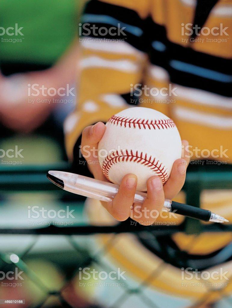 baseball autograph, fan stock photo