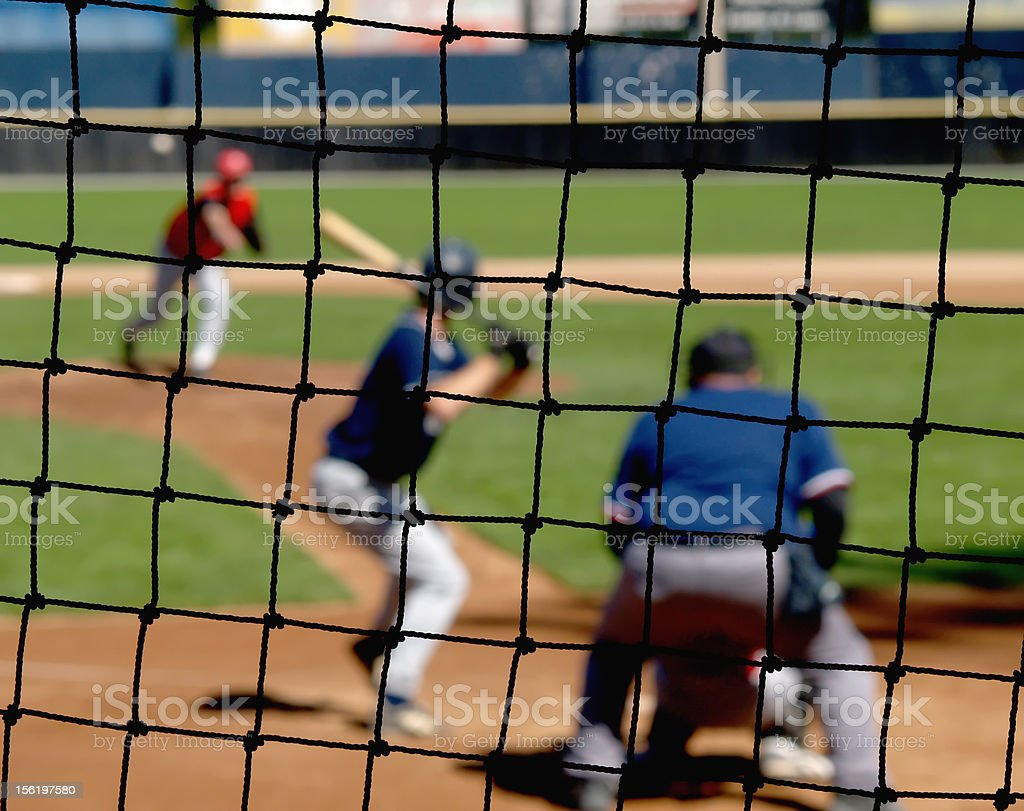 Baseball Backstop Net stock photo