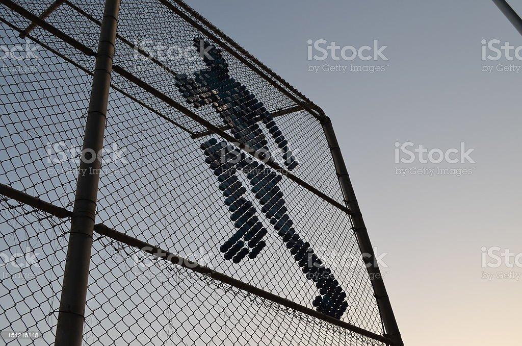 Baseball Backstop royalty-free stock photo