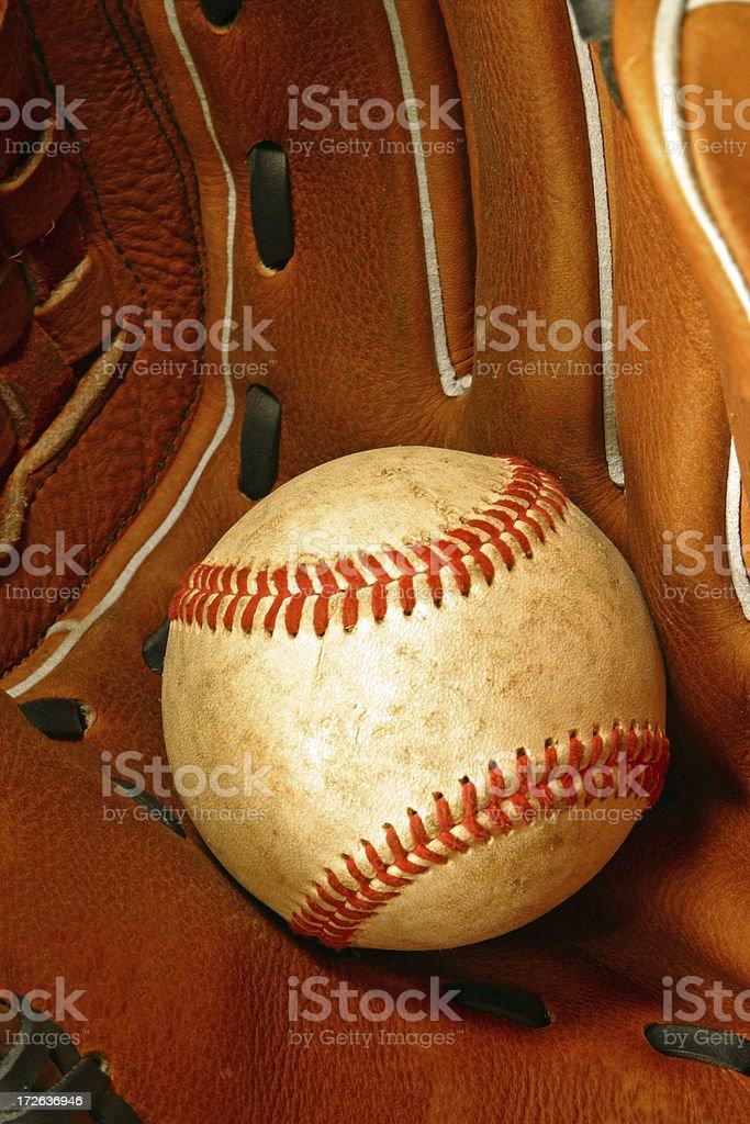 Baseball - Ball in Glove royalty-free stock photo