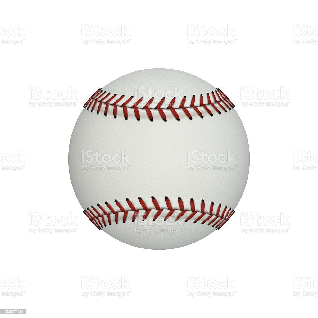 Baseball ball isolated on white background. 3D Illustration stock photo