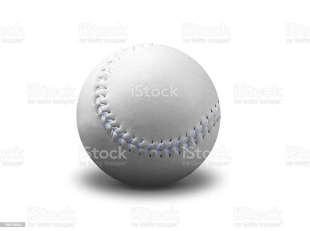 Baseball ball isolated on white stock photo