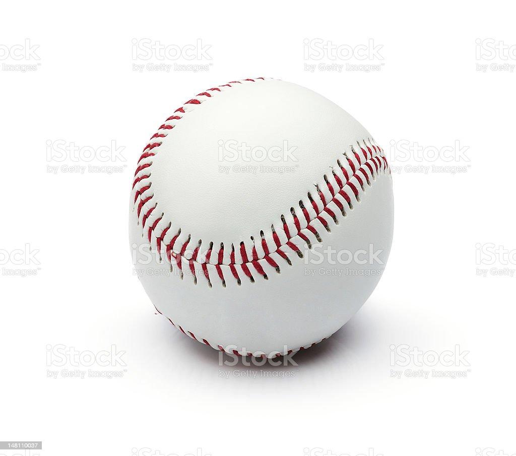 Baseball ball isolated royalty-free stock photo