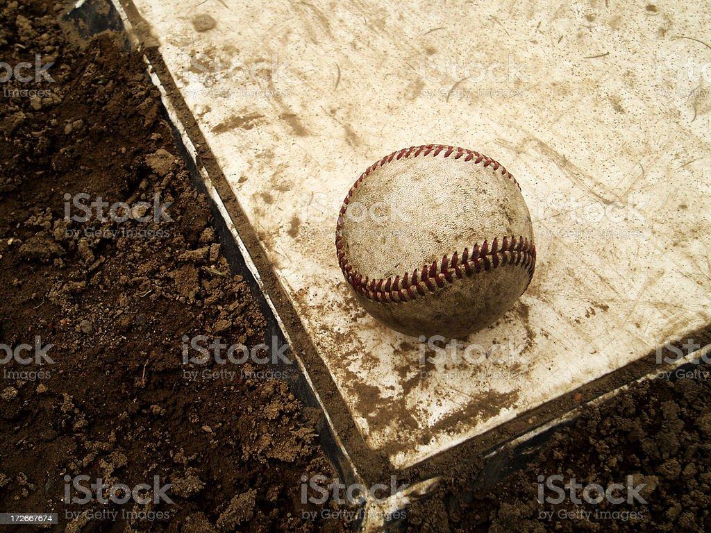 Baseball - Ball on Base royalty-free stock photo