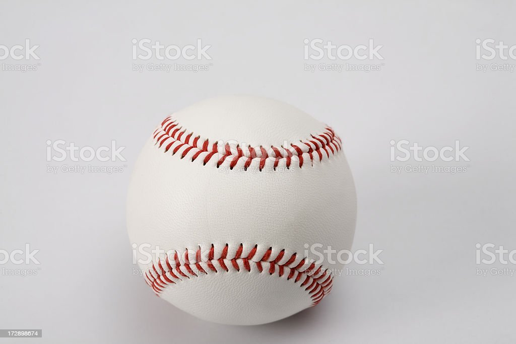 Baseball ball with clipping path royalty-free stock photo