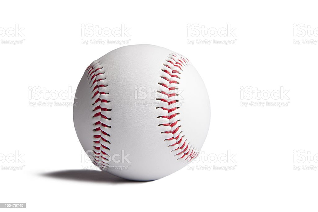 Baseball ball with shadow isolated on white background . royalty-free stock photo