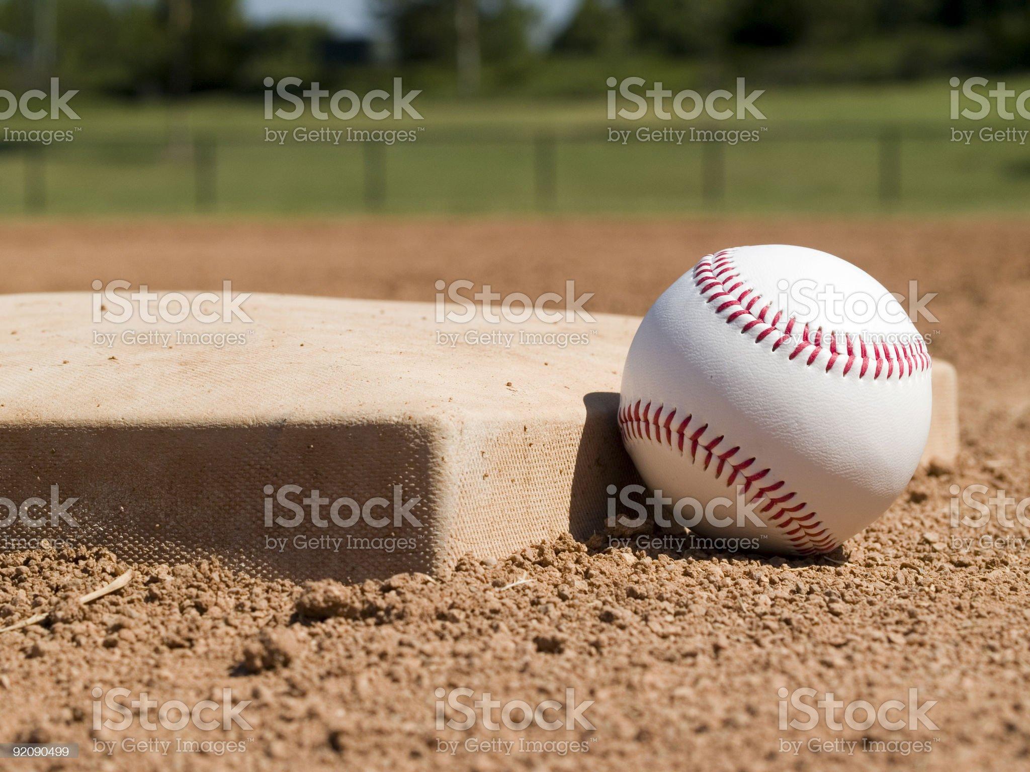 Baseball - Base and Ball royalty-free stock photo