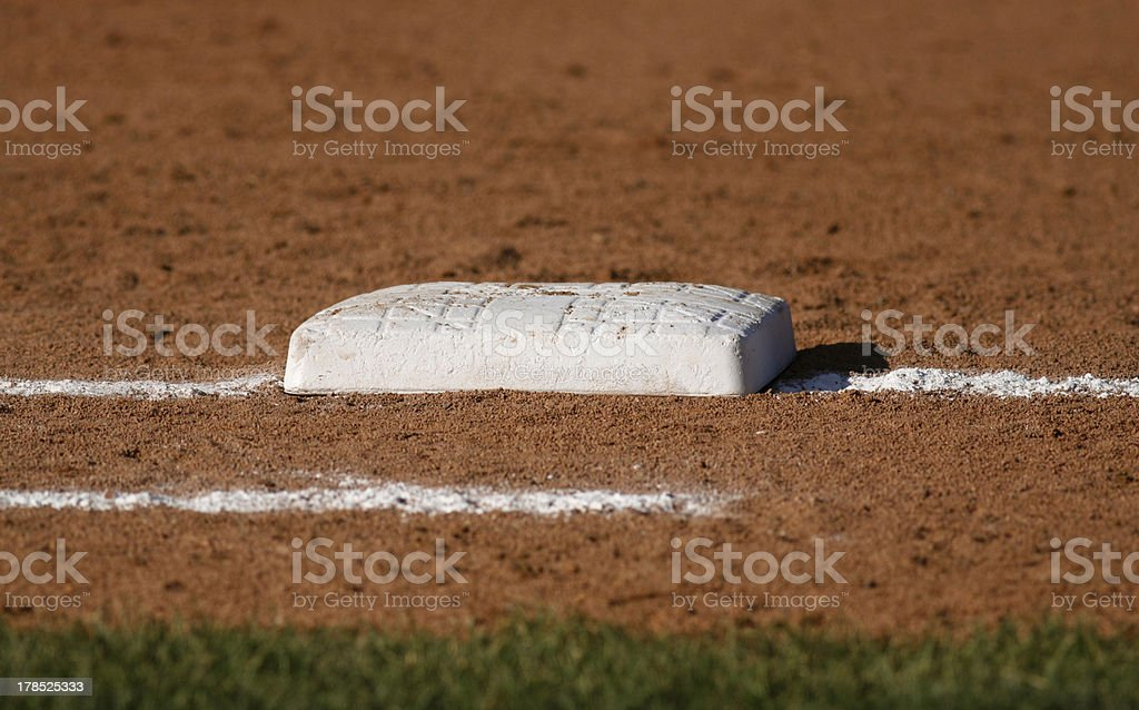 Baseball Base Closeup royalty-free stock photo