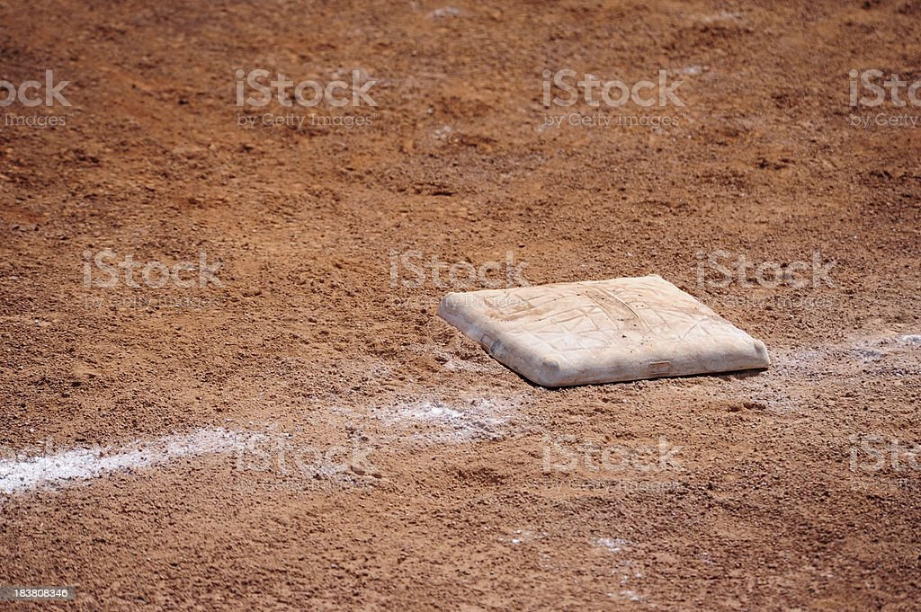 Baseball Base, Reaching, Sports Equipment royalty-free stock photo