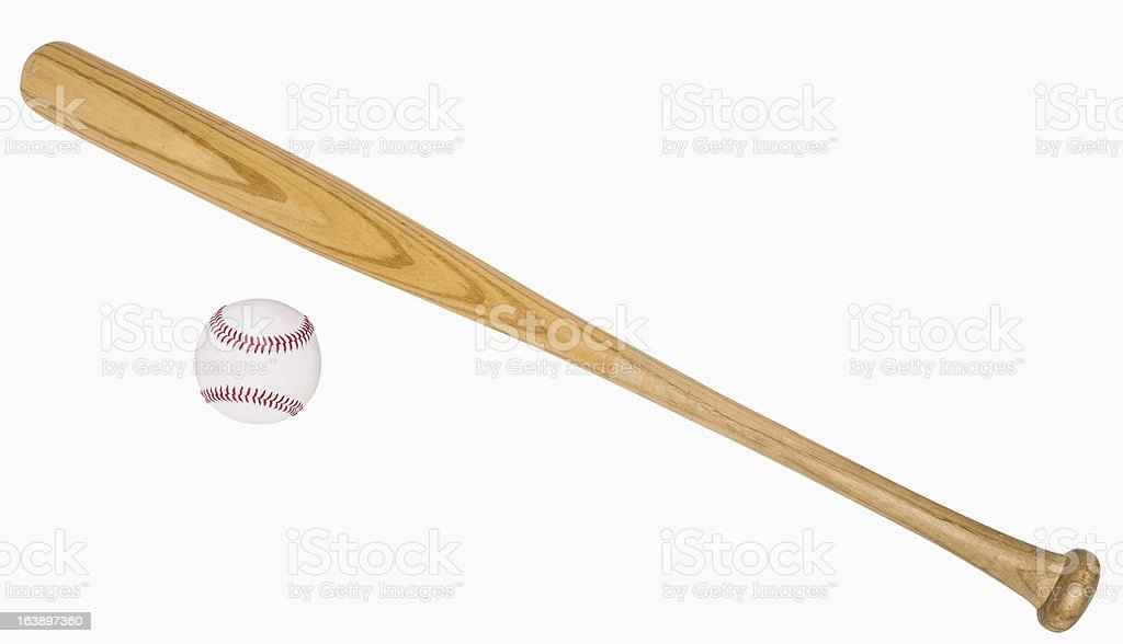 Baseball Bat and Ball stock photo