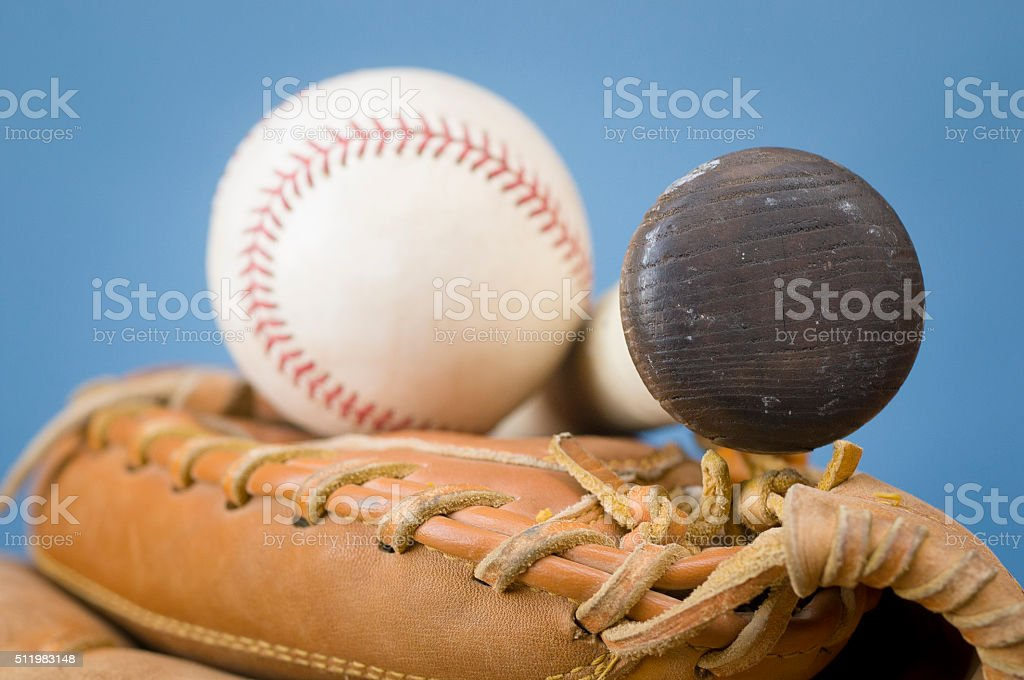 Baseball, Bat and Glove stock photo