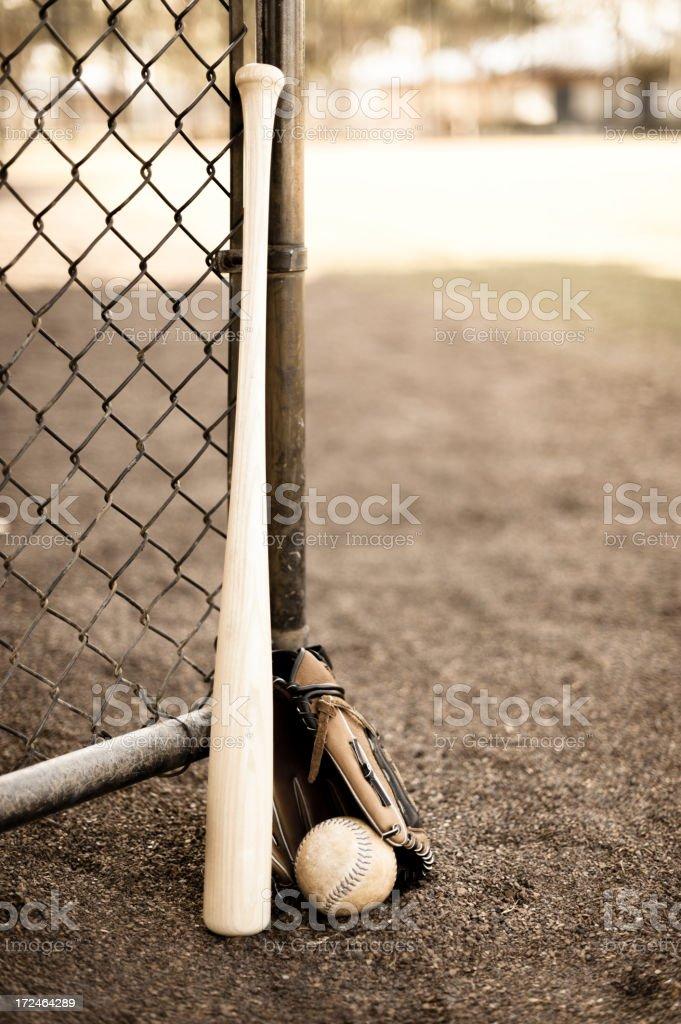 Baseball Bat Ball and Glove royalty-free stock photo