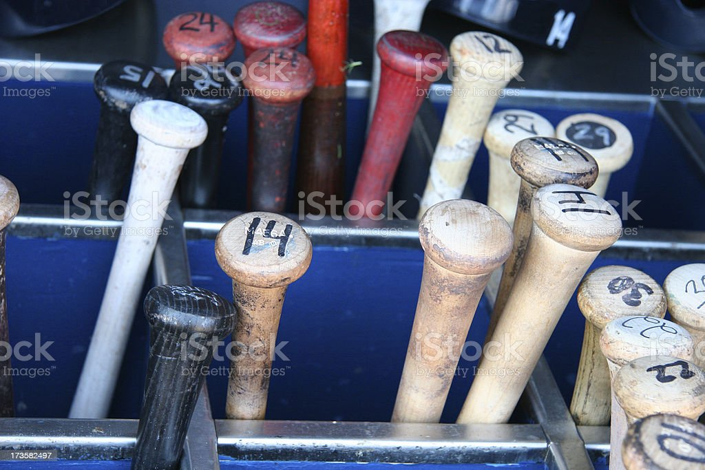 Baseball Bat Bin stock photo
