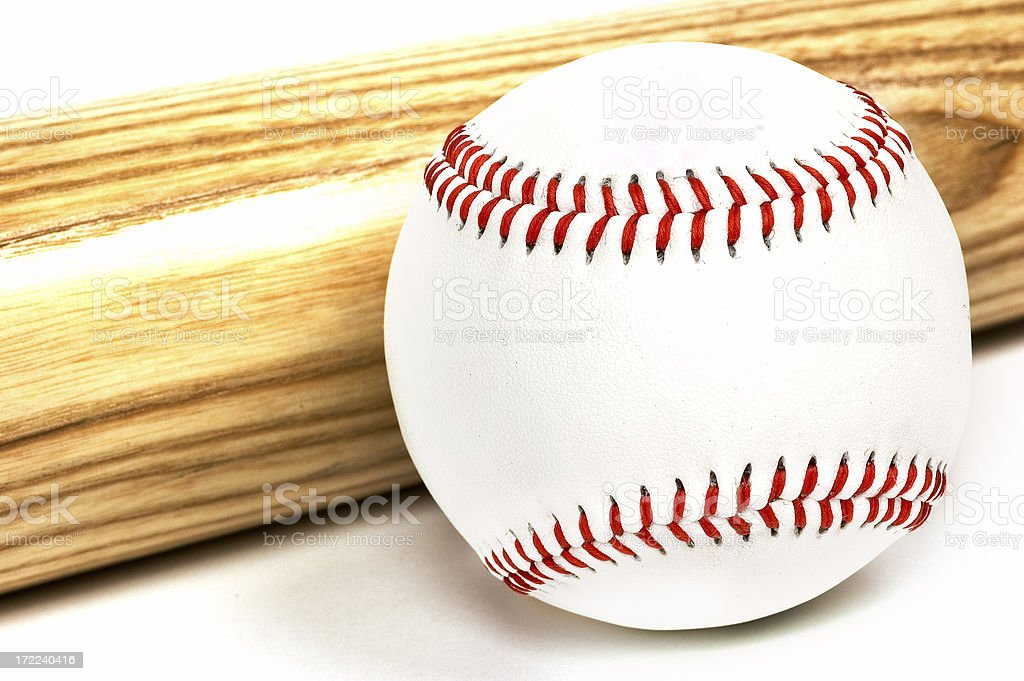 Baseball & Bat stock photo