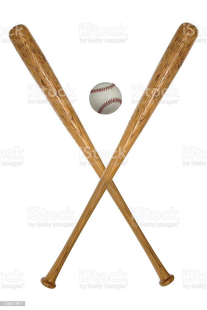 Baseball Bats and Ball royalty-free stock photo