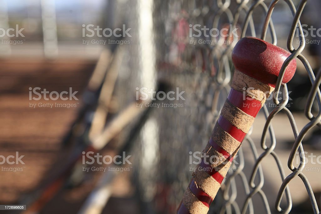 Baseball bats stock photo