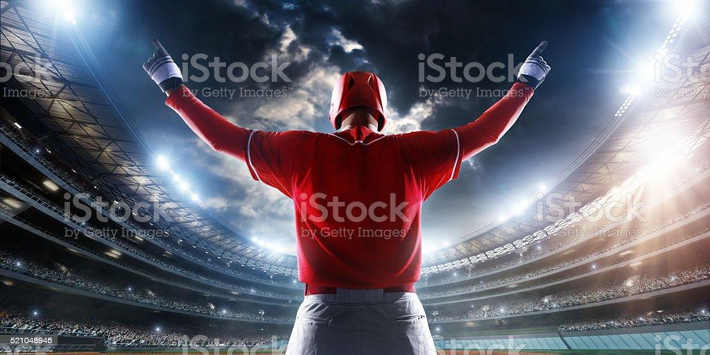 Baseball batter enters stadium stock photo