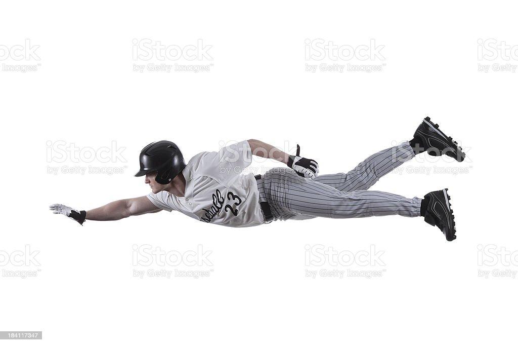 Baseball batter flying stock photo